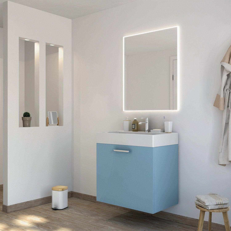 Un meuble vasque bleu glacier | Leroy Merlin