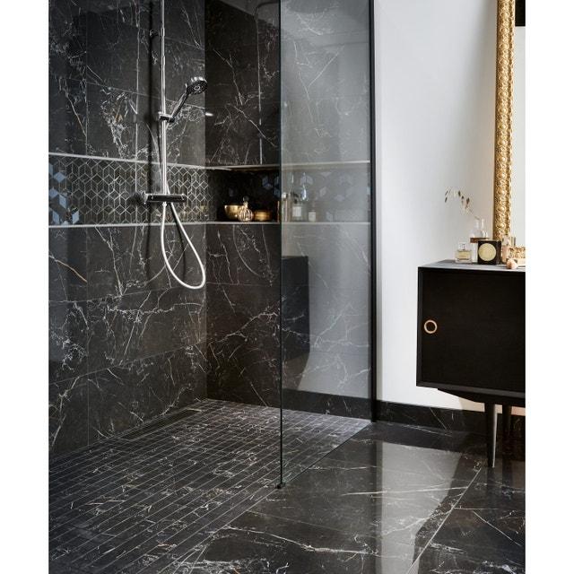 Une douche à l\'italienne style glamour | Leroy Merlin