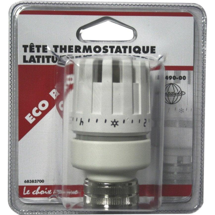 tte de robinet thermostatique droit femelle femelle laiton blanc ecopro - Radiateur Avec Robinet Thermostatique