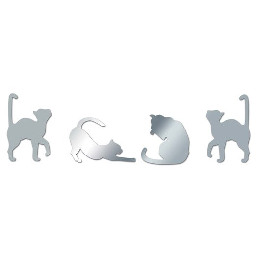 miroir en plexiglass chats 15 cm x 45 cm leroy merlin. Black Bedroom Furniture Sets. Home Design Ideas
