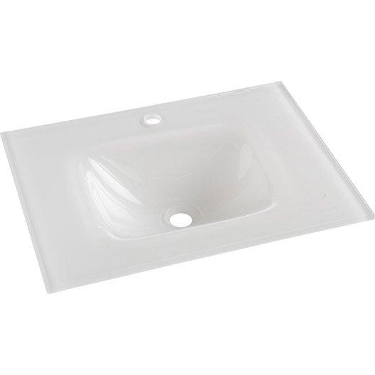 plan vasque simple opale verre tremp 61 cm leroy merlin. Black Bedroom Furniture Sets. Home Design Ideas