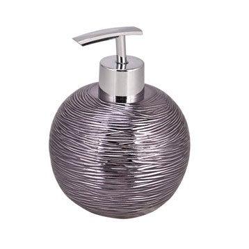 Distributeur de savon polyrésine Jet set, gris