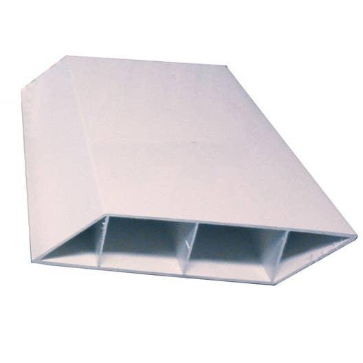 lame de cl ture pvc naterial blanc x l 3 cm leroy merlin. Black Bedroom Furniture Sets. Home Design Ideas