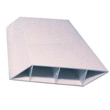 Lame de clôture pvc NATERIAL blanc, H.230 x l.3 cm