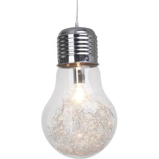 suspension bulb brilliant 60 watts diam 27 cm leroy merlin. Black Bedroom Furniture Sets. Home Design Ideas