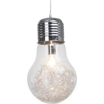 Suspension Pop Bulb verre métal antique 1 x 60 W BRILLIANT