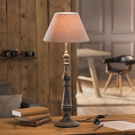 Lampe de salon rustique