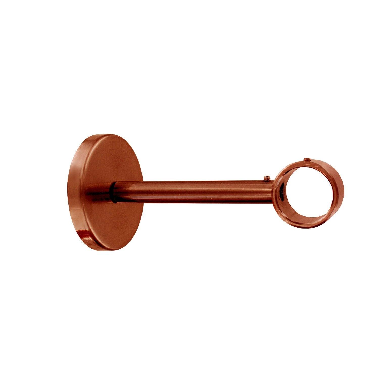 lot de 2 supports sans per age tringle rideau design 28 mm cuivre bross ib leroy merlin. Black Bedroom Furniture Sets. Home Design Ideas