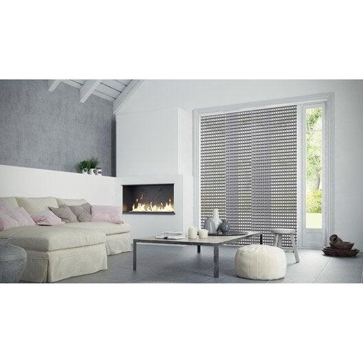 panneau japonais 3d gris x cm leroy merlin. Black Bedroom Furniture Sets. Home Design Ideas