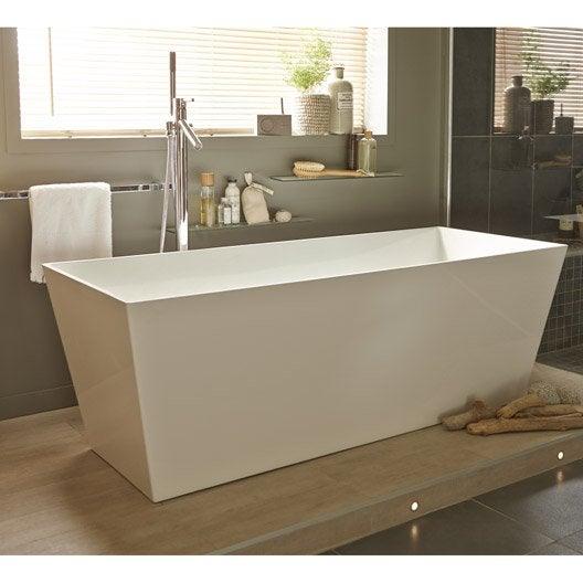 baignoire lot rectangulaire cm blanc carmel. Black Bedroom Furniture Sets. Home Design Ideas