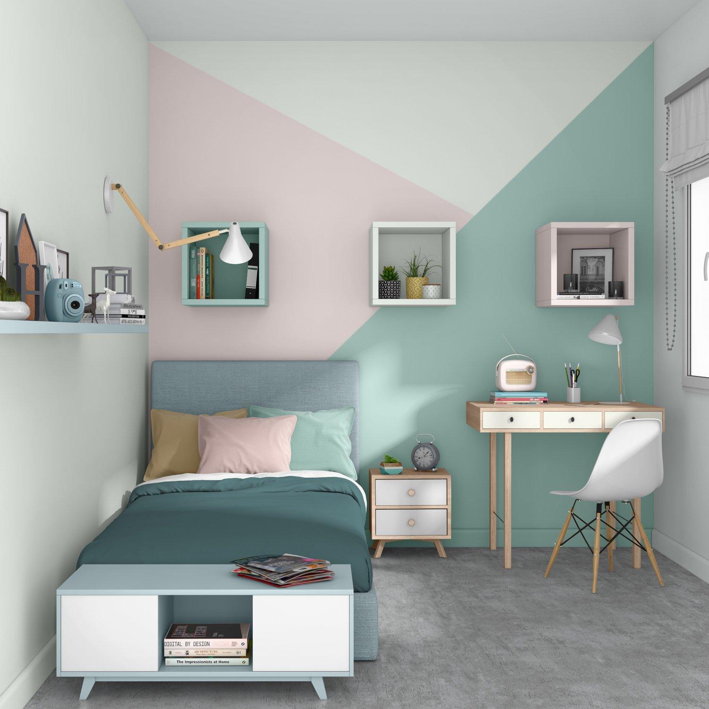 Un trio de couleurs dans la chambre | Leroy Merlin