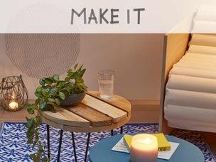 Diy r aliser une table basse avec des cubes de bois - Creer une table basse avec des palettes ...