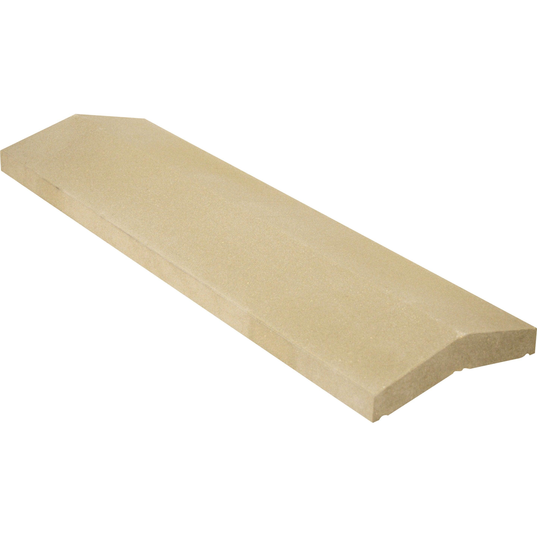 Couvre Mur 2 Pans Classique Lisse Beige H4 X L25 X P99 Cm