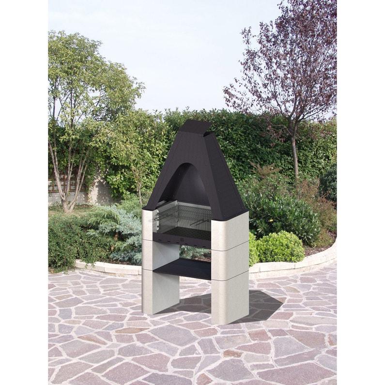 Barbecue Fixe Basic2 Beton Metal Sans Colle Leroy Merlin
