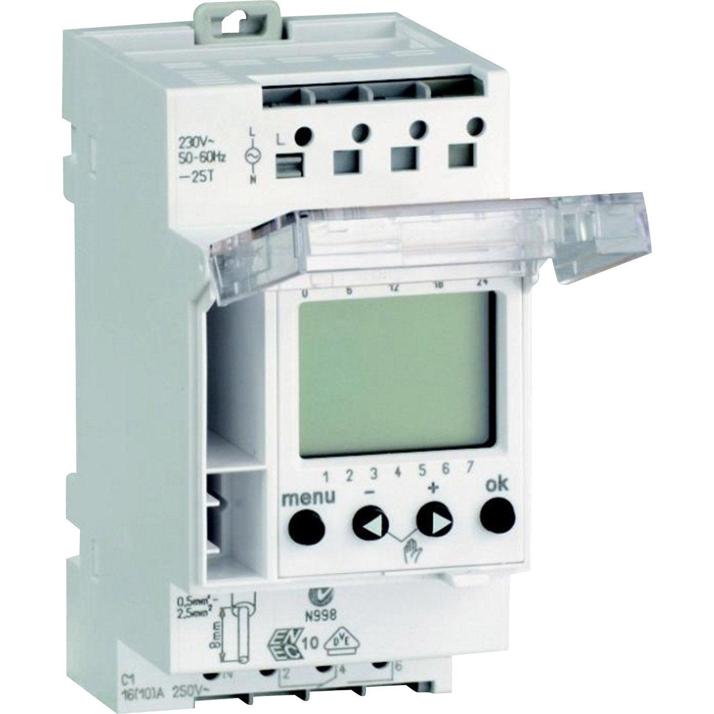 Horloge Schneider Electric 230 V 16 A Leroy Merlin