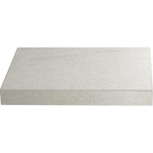 Plan de travail stratifi basaltino blanc mat x cm mm ler - Plan de travail epaisseur 10 cm ...