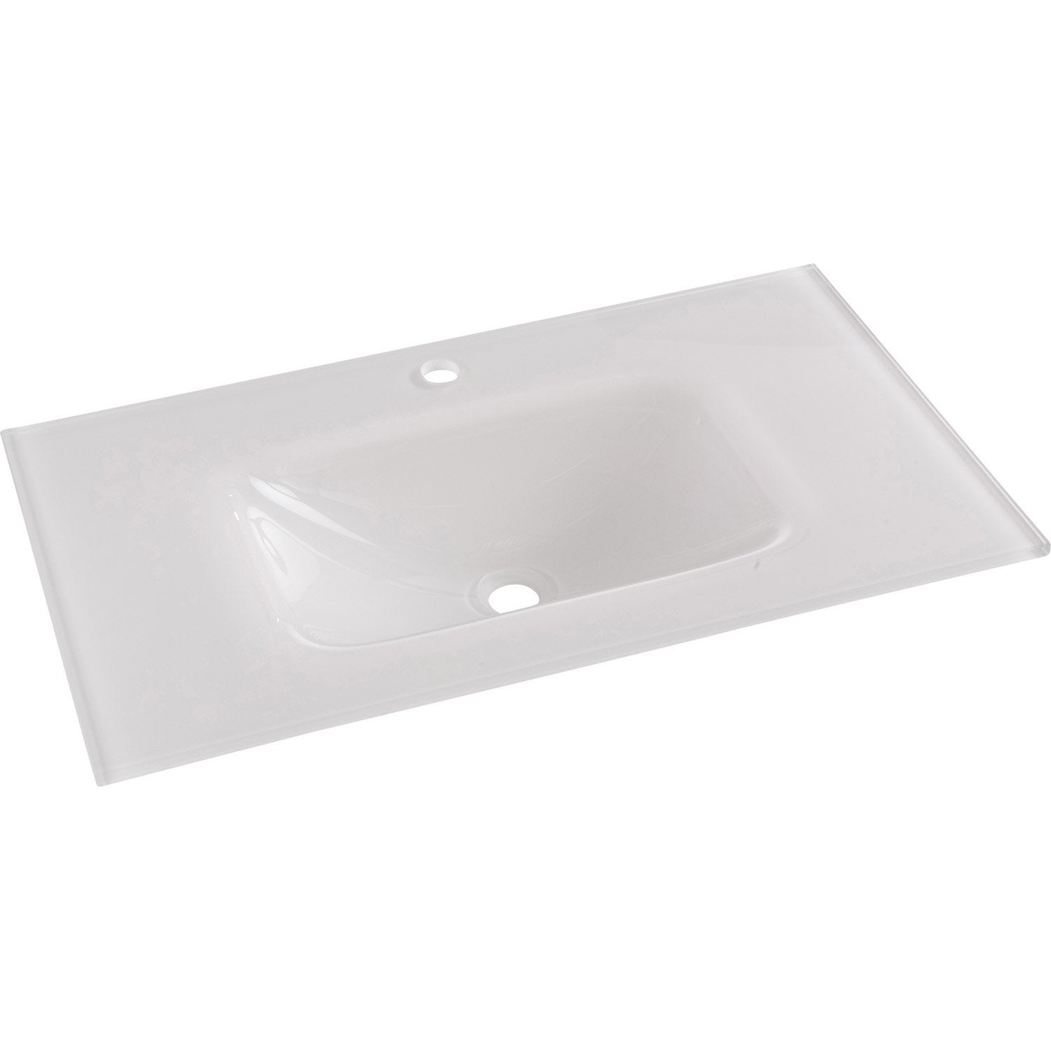 Plan vasque simple Opale Verre trempé 81 cm | Leroy Merlin