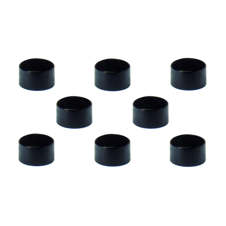 lot de 8 aimants noir diam 9 mm leroy merlin. Black Bedroom Furniture Sets. Home Design Ideas