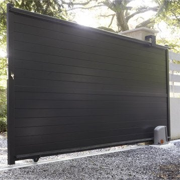 portail portail aluminium bois fer pvc battant coulissant leroy merlin. Black Bedroom Furniture Sets. Home Design Ideas