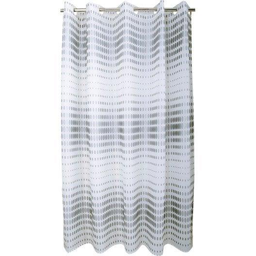 Rideau de douche barre et rideau de douche leroy merlin - Rideau de douche textile ...
