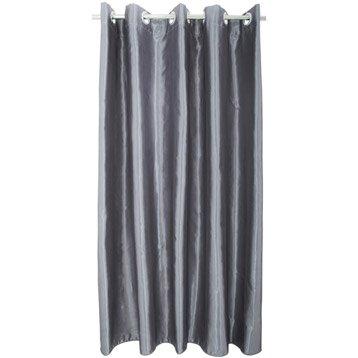 rideau de douche en tissu shimmer sensea anthracite 180x200 cm. Black Bedroom Furniture Sets. Home Design Ideas