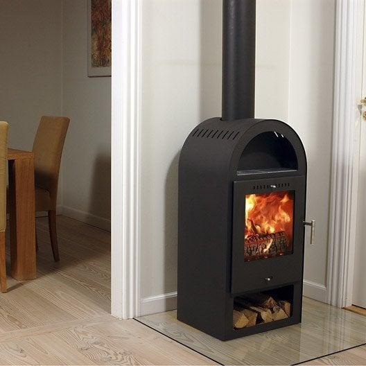 po le bois baseline by aduro 4 noir 6 kw leroy merlin. Black Bedroom Furniture Sets. Home Design Ideas