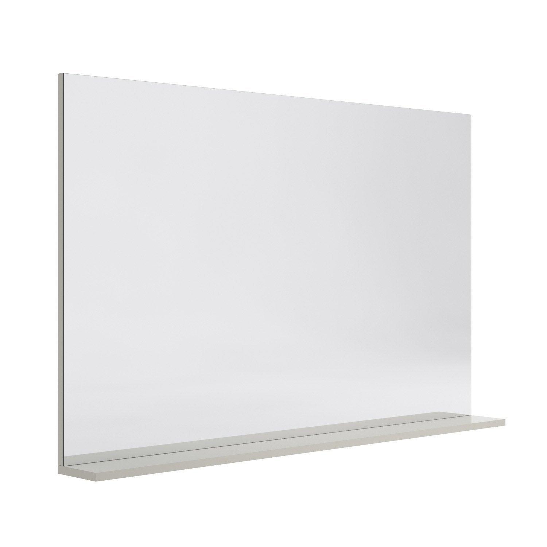 miroir avec tablette gr ge l 120 0 cm opale leroy merlin. Black Bedroom Furniture Sets. Home Design Ideas
