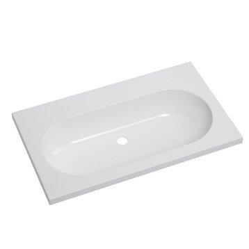 Plan vasque simple Opale Céramique 81.0 cm