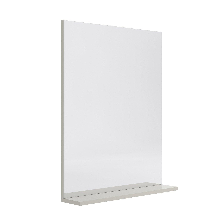 Miroir avec tablette grège, l. 60.0 cm Opale | Leroy Merlin