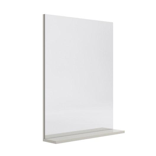 miroir avec tablette gr ge l 60 0 cm opale leroy merlin. Black Bedroom Furniture Sets. Home Design Ideas