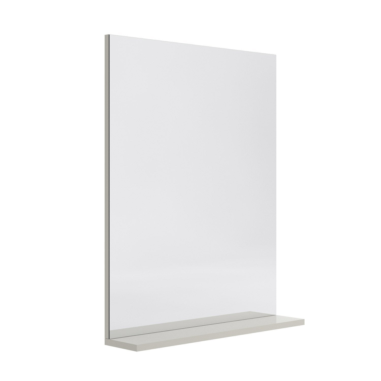 Miroir Avec Tablette Grège L 600 Cm Opale Leroy Merlin