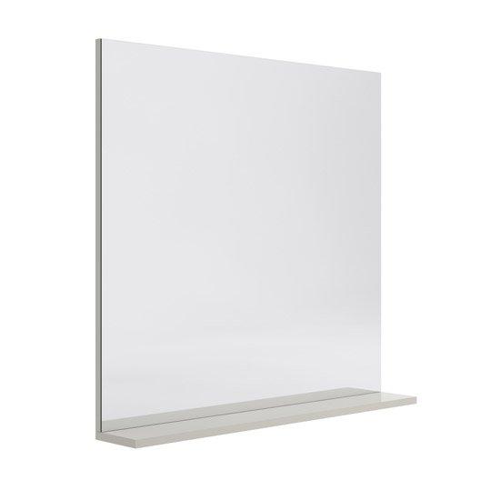 miroir avec tablette gr ge l 80 0 cm opale leroy merlin. Black Bedroom Furniture Sets. Home Design Ideas