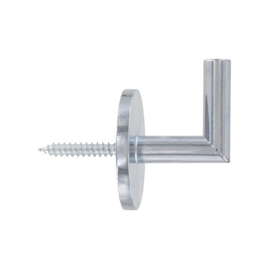 Gond tringle rideau city 28 mm acier chrom inspire leroy merlin - Tringle a rideau cable acier ...