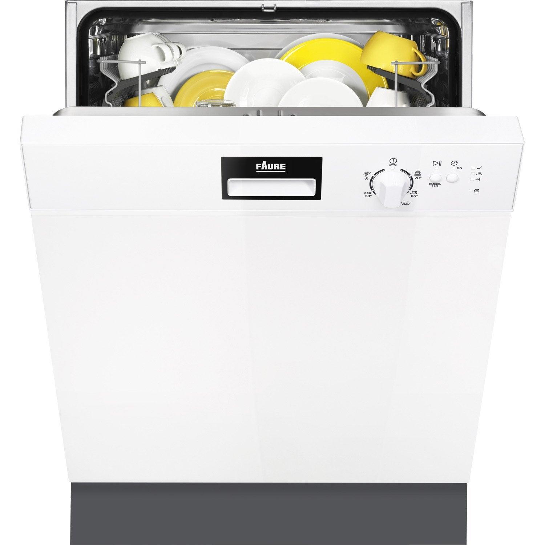 lave-vaisselle intégrable l.59.6 cm faure fdi22001wa, 13 couverts
