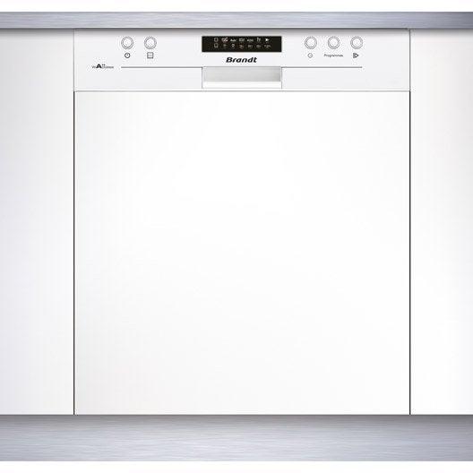 lave vaisselle int grable cm brandt vh1505w 13 couverts leroy merlin. Black Bedroom Furniture Sets. Home Design Ideas