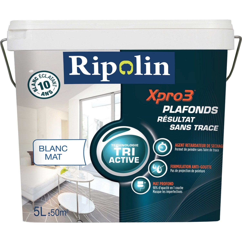peinture blanche plafond xpro3 sans traces ripolin mat 5. Black Bedroom Furniture Sets. Home Design Ideas