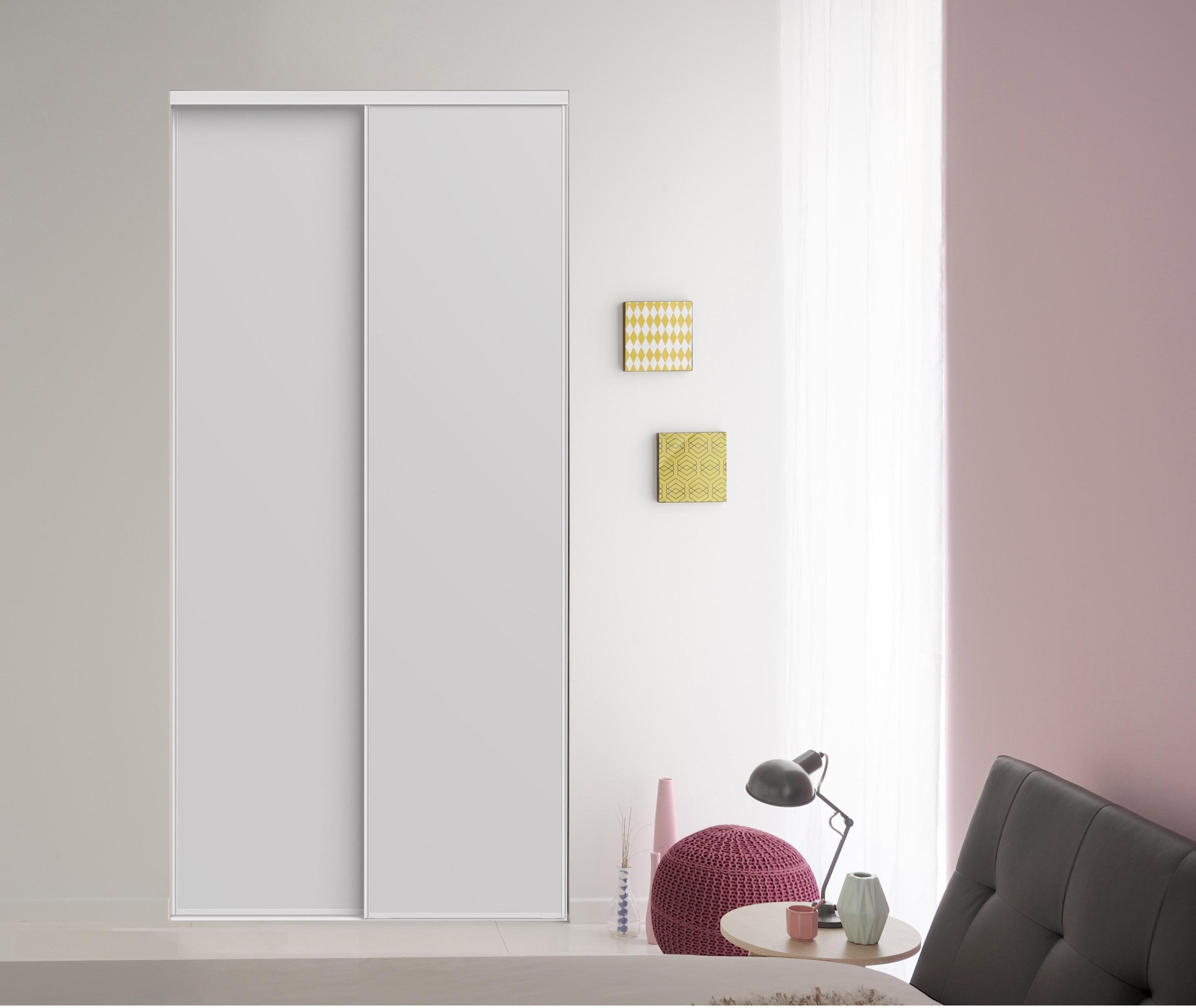 Creer Des Portes De Placard Coulissantes lot de 2 portes de placard coulissantes 2 portes l.120 x h.250 cm