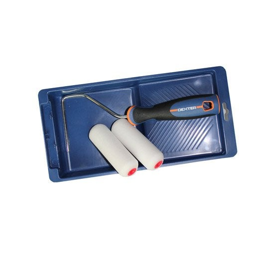 lot de 1 bac 2 mini rouleaux laqueurs 110 mm diam 15 mm 1 manchon dexter leroy merlin. Black Bedroom Furniture Sets. Home Design Ideas