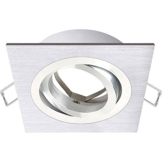 anneau pour spot encastrer giove orientable sans ampoule inspire aluminium leroy merlin. Black Bedroom Furniture Sets. Home Design Ideas