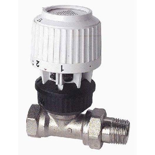 robinet thermostatique droit 12/17 mâle / femelle laiton blanc ... - Demonter Un Robinet Thermostatique
