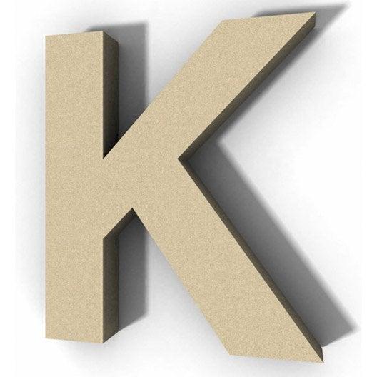 Lettre bois majuscule k 12 cm x 12 cm leroy merlin - K en majuscule ...