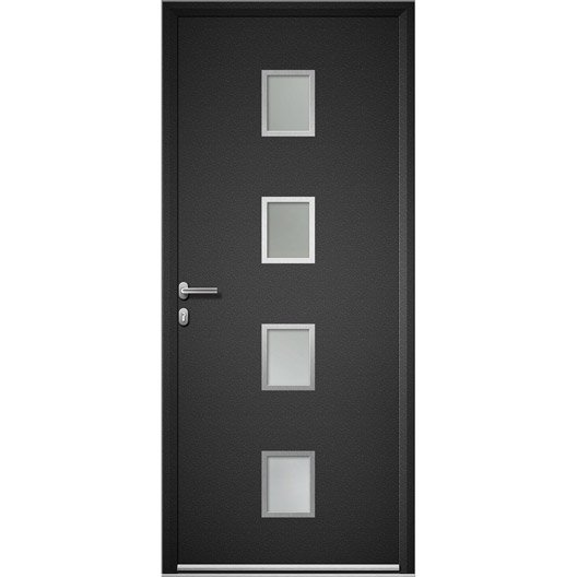 Porte d 39 entr e aluminium baltimore artens poussant gauche - Porte entree alu leroy merlin ...