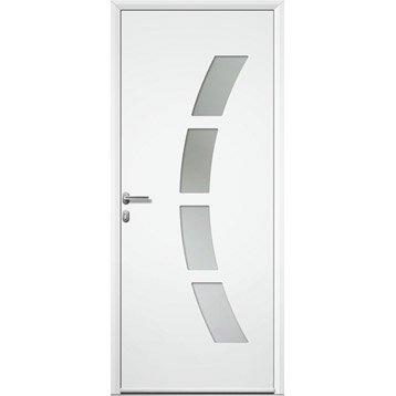 Porte d'entrée aluminium Toledo ARTENS poussant gauche, H.215 x l.90 cm