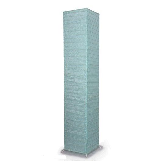 Abat jour 23 cm papier bleu atoll n 5 inspire leroy - Abat jour suspension leroy merlin ...