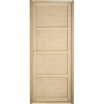 Bloc-porte chêne plaqué Paris ARTENS, H.204 x l.73 cm