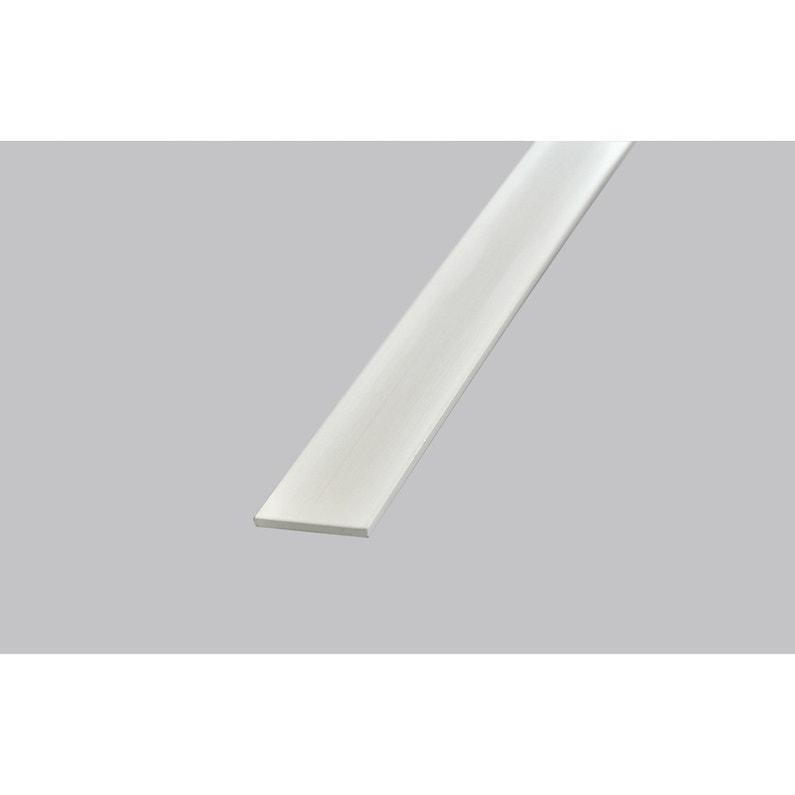 Plat Pvc Blanc 2 X 40 Mm L26 M