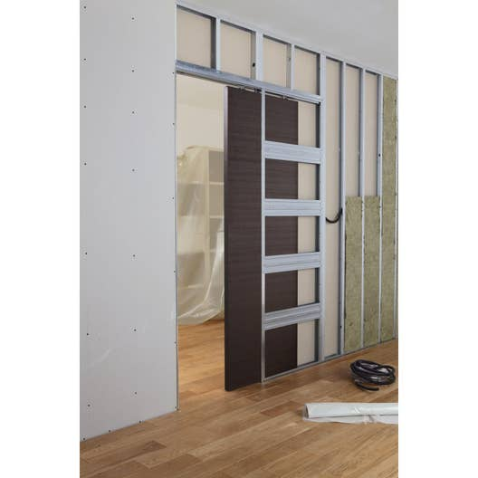 syst me galandage en kit pour porte coulissante artens 3 cm leroy merlin. Black Bedroom Furniture Sets. Home Design Ideas