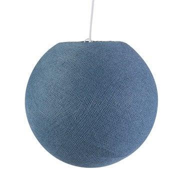 Suspension, e27 moderne Tori coton bleu 1 x 60 W INSPIRE