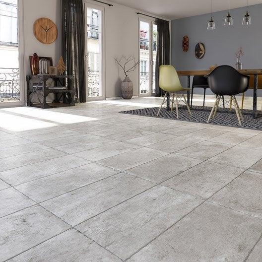 Carrelage sol et mur gris effet pierre monast re x l for Achat de carrelage