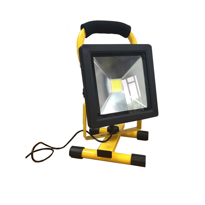 projecteur batterie led arlux 20 w leroy merlin. Black Bedroom Furniture Sets. Home Design Ideas